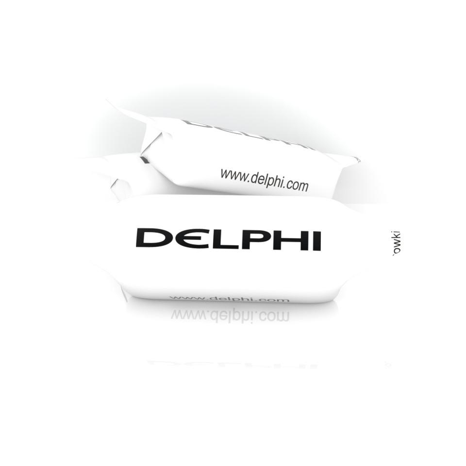 Krówka reklamowa z logo Delphi