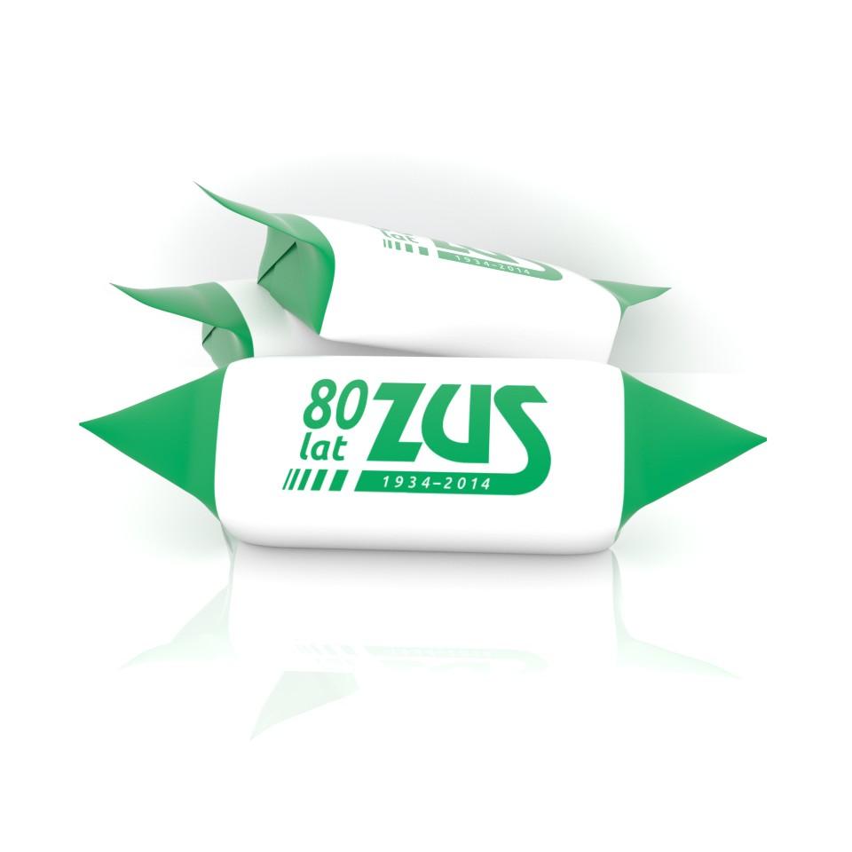 Krówki z logotypem ZUS