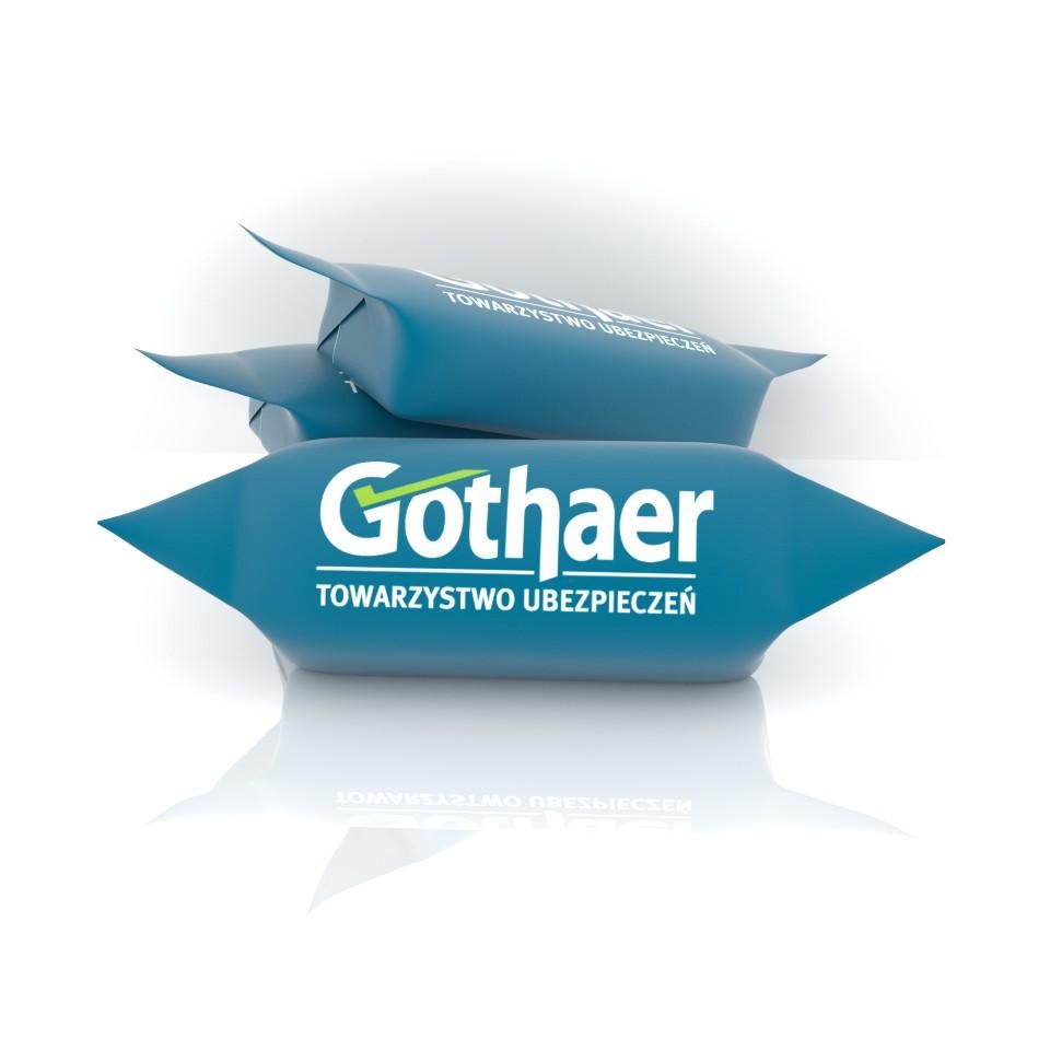 krówki reklamowe z logotypem Gothaer