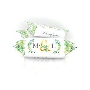 Krówki Ślubne M&L złoto i bluszczKrówki Ślubne M&L złoto i bluszcz