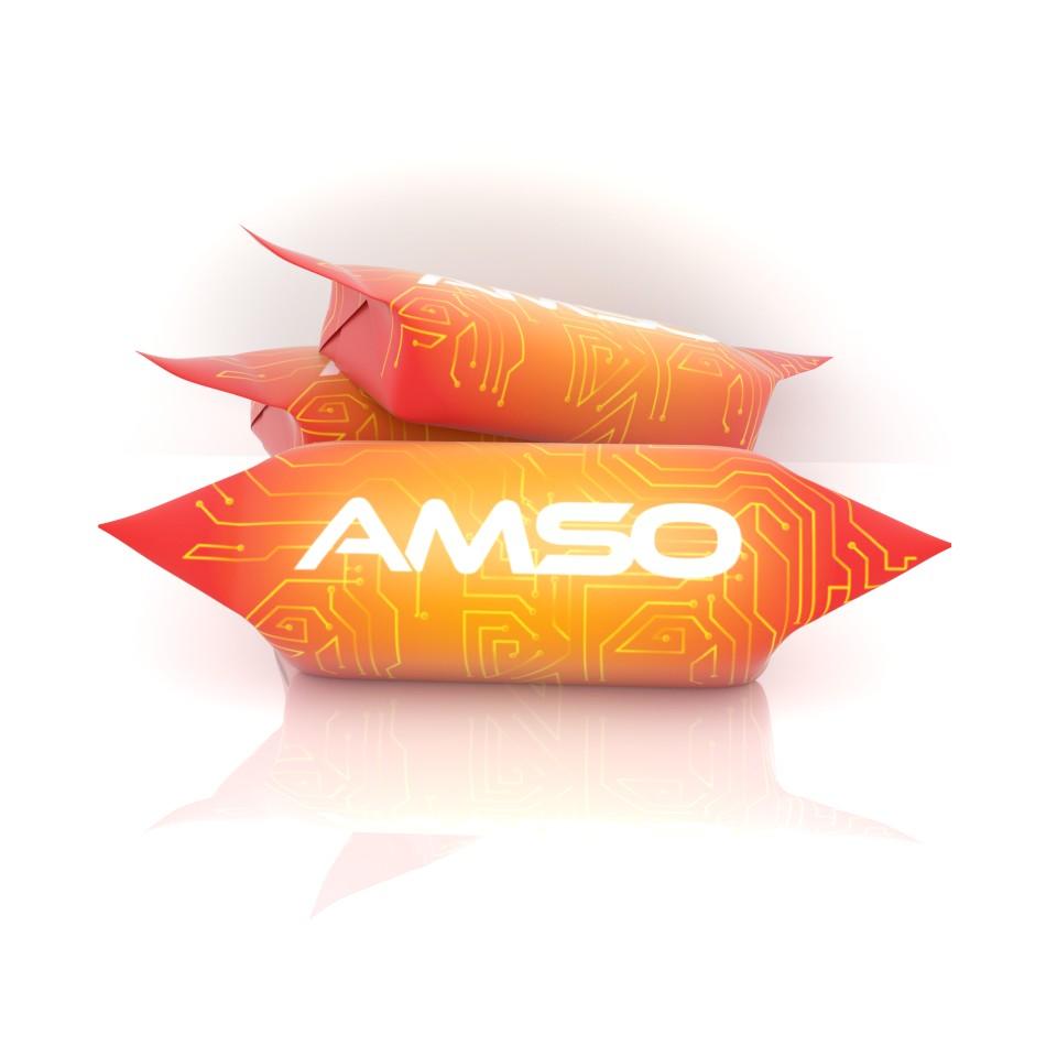 krówki z logo amso