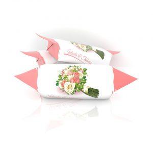 Krówki Ślubne z kwiatami
