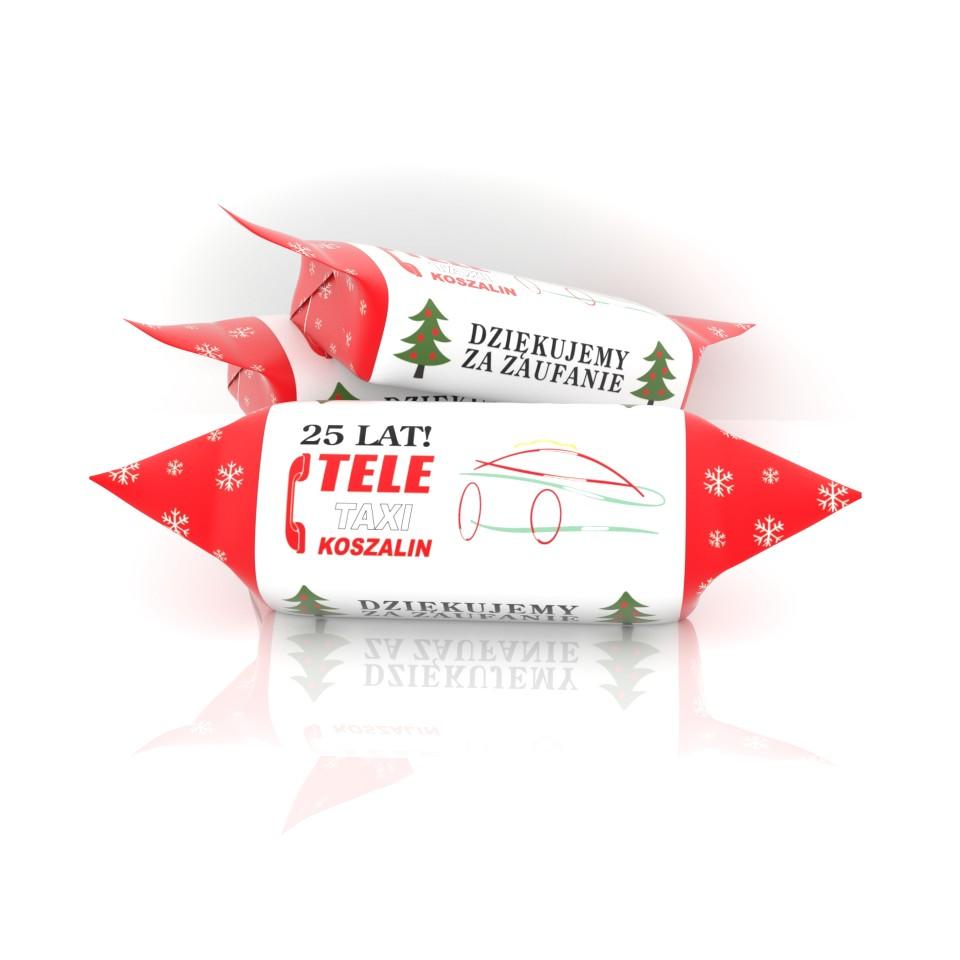 Świąteczne krówki reklamowe TELE TAXI KOSZALIN