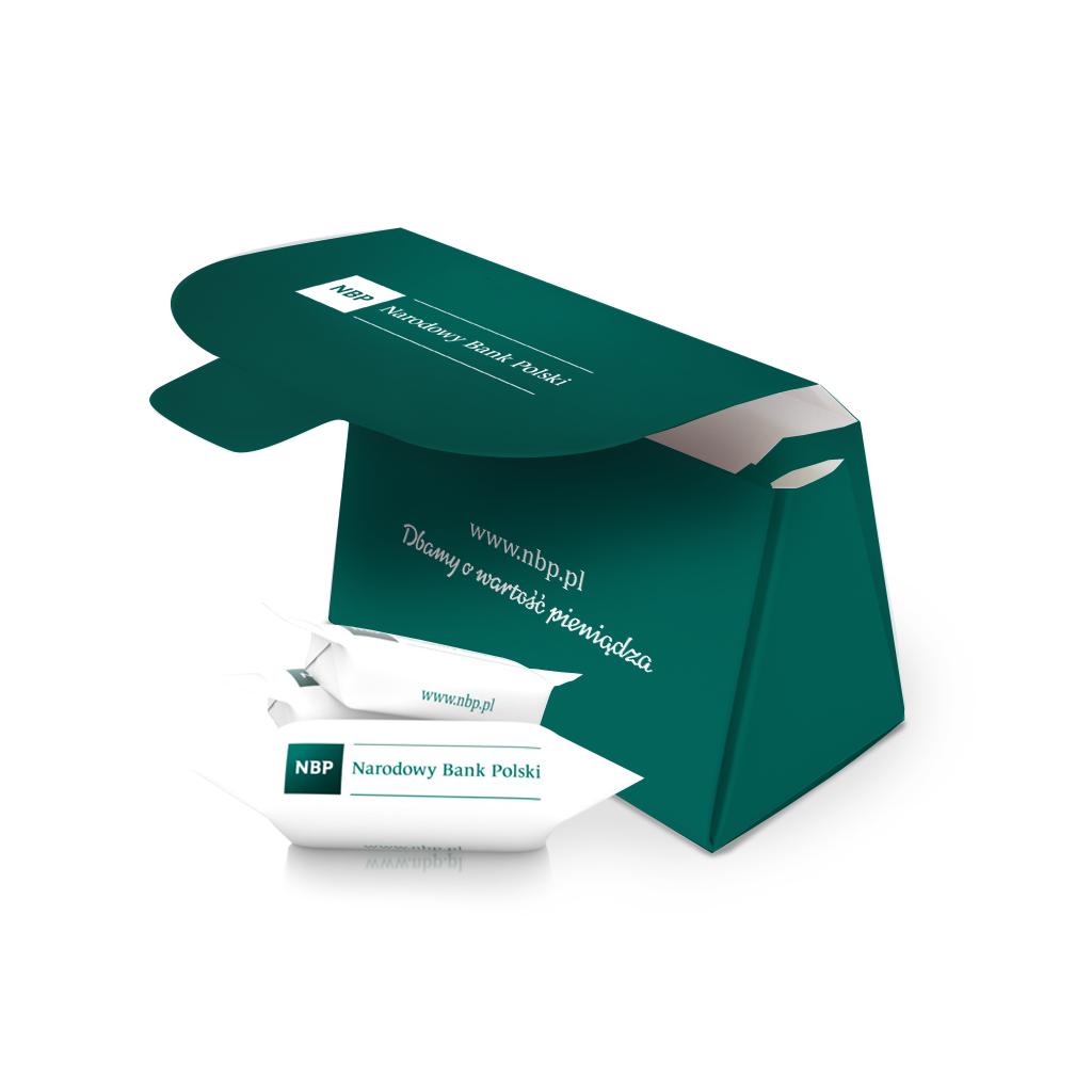 Krówki reklamowe z pudełkiem- Narodowy Bank Polski